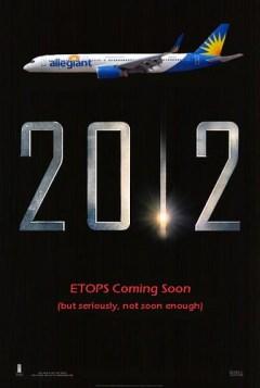 Allegiant 757 to Hawaii in 2012