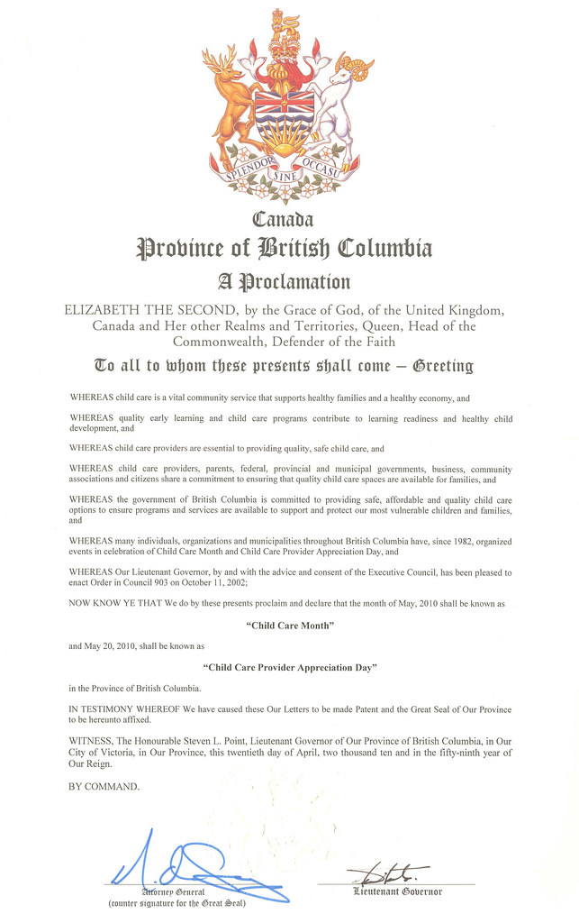 A Proclamation!