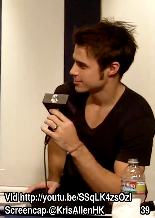 Kris Allen Billy Bush Show interview screen cap chest arms biceps sexy tee t-shirt pictures 39