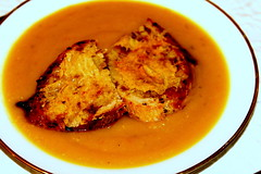 Squash Soup with Croutons