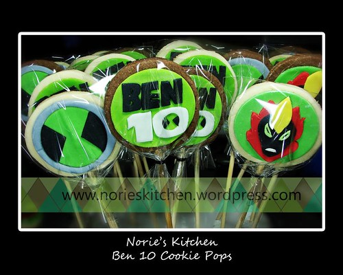 Norie's Kitchen - Ben 10 Cookie Pops