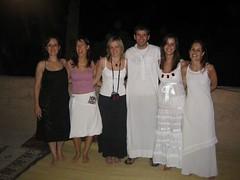Glòria, Maite, Núria, Paco, Cris i Raquel