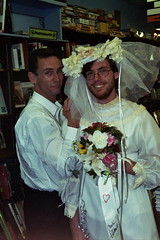 FLICKR: Chuck Palahniuk and Pete, in wedding dress