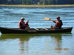 mom charlie & dad on the canoe