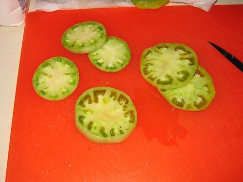 Green tomato slices!