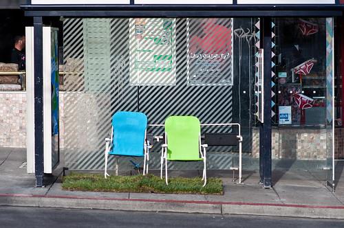Empty Bus Stop Park