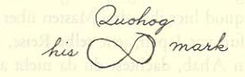 Quohog – his mark