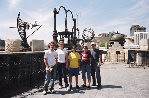Natty, Sarah, Katie, Alex and myself at the top of the ancient astrological observatory.