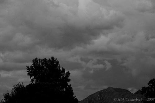 Stormy Skies in B&W