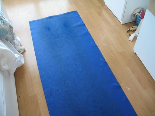 doing yoga