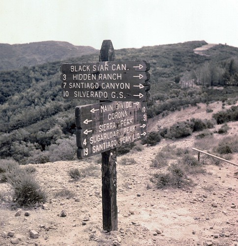 Main Divide, Santa Ana Mountains, circa 1960