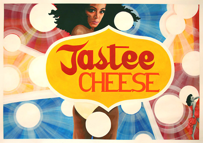 Tastee Cheese, Acrylic on Paper, 100cm x 70cm by Robin Clare