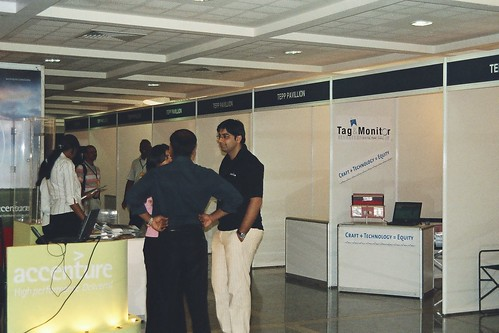 Tag & Monitor stall right opposite Accenture's stall