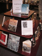 The War display at Howard County's Miller branch