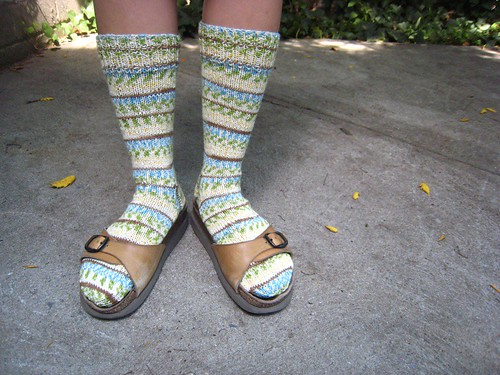 Ugly sock meets ugly shoes