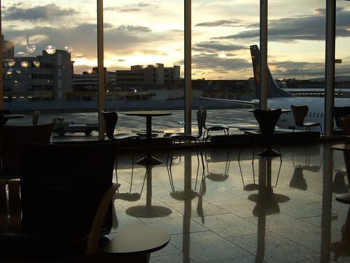 frankfurt airport, 9:30 pm