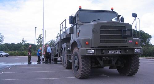 The British Army helping to distribute water across Cheltenham