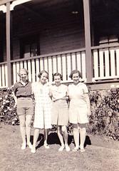 Grandma (far left) & friends, Terrigal 1938
