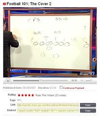 ESPN.com Video Beta Screenshot Detail - 09/07/07