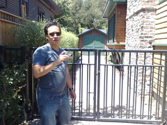 Jeremiah in front of Hewlett Packard garage