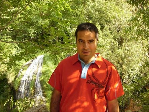 Nacho en el Parque Natural del Monasterio de Piedra