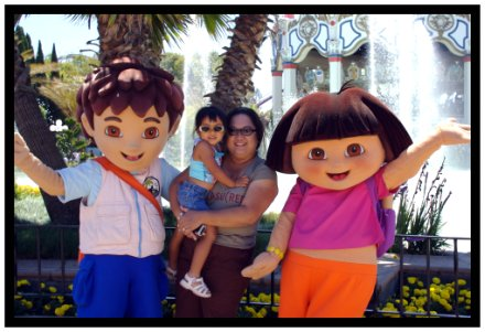 Tiana, Jane, Dora and Diego
