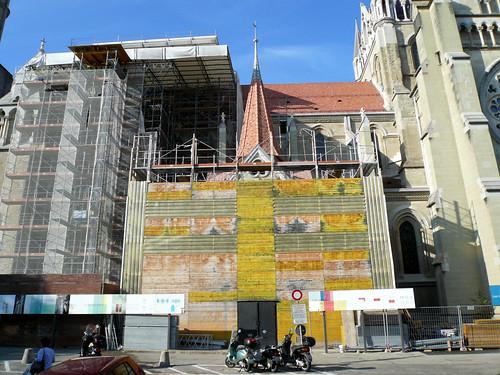 Portail peint Cathédrale (12 septembre 2007)