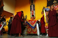Giving the Long Life Blessing, Tharlam Monaste...