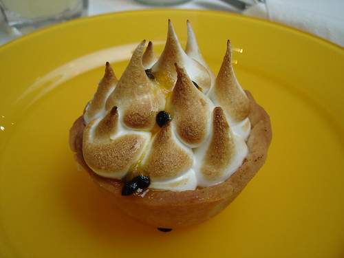 Passion Fruit Curd Meringue Tart
