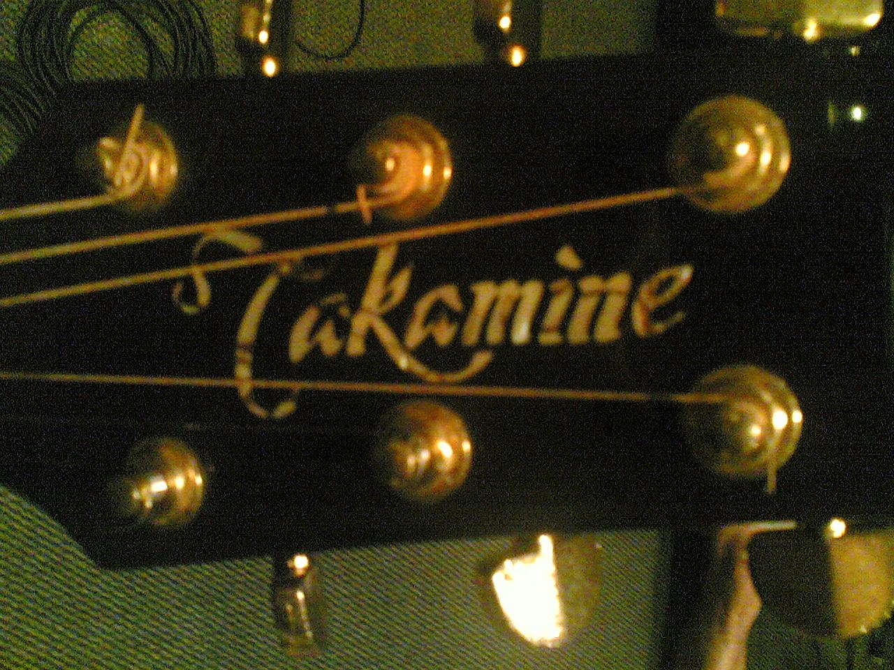 Takamine...Lionel's guitar...