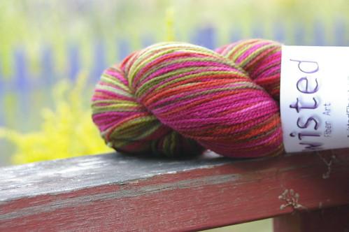 Twisted sock yarn