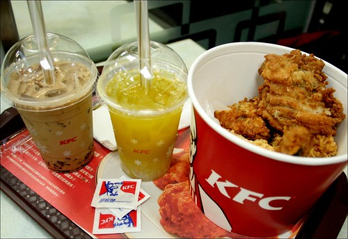 kfc fried chicken and drinks 1