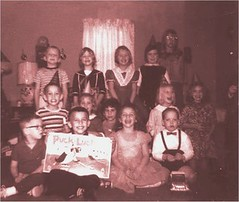 Our combined birthday party about 1965