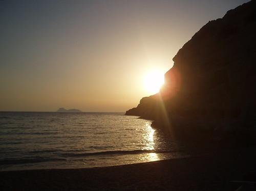 Sunset at Matala
