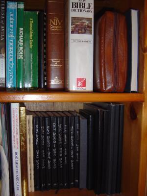 Moleskine shelf