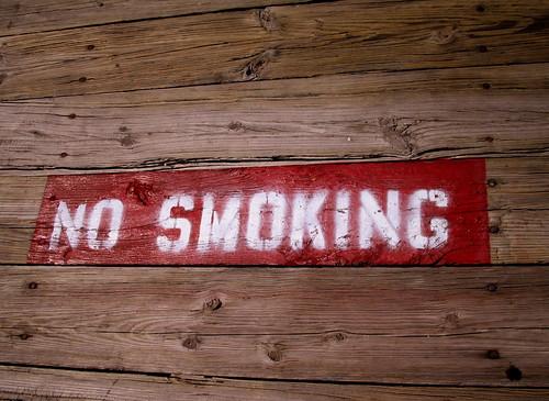 no smoking on the dock