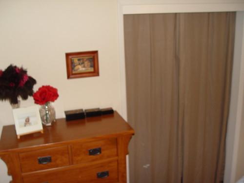 Our room - closet and dresser.