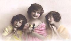 Vintage Postcard ~ Faith, Hope, & Love