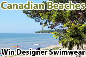 Canadian Beaches, Lenzr photo contest, designer swimwear