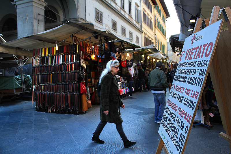 It is against the law to buy fake goods in Italy