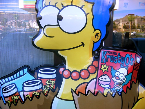 Marge at the Kwik-E Mart