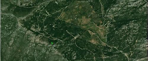 mapa resaltando el punto final