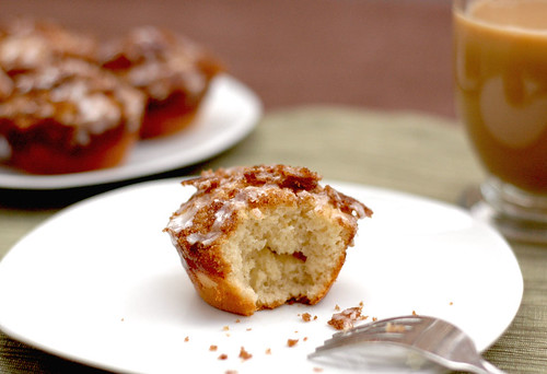 Brown Sugar & Cinnamon Yeast Muffins