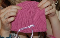 Baby Shower: Hand-Knit Hat