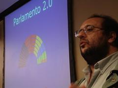 Eduardo Betas en un momento de la charla