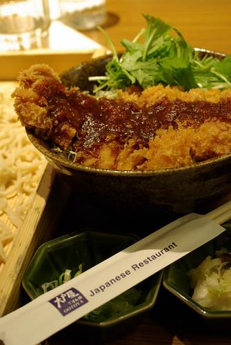 豬排+蕎麥麵@OOTOYA