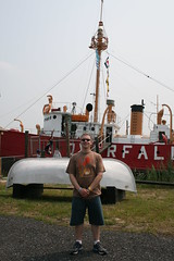 Sean near the lightship