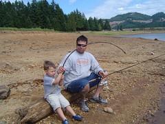 dad & charlie fishing