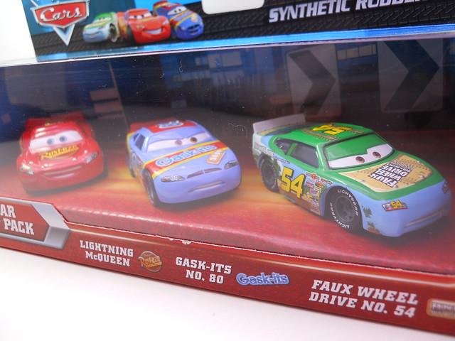 DISNEY CARS RUBBER TIRE RACER 3 PACK K MART (2)