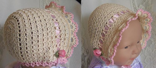 Sugar & Spice Bonnet - Cream/Pink